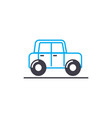 retro car thin line stroke icon retro car vector image vector image