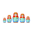 russian nested doll vector image