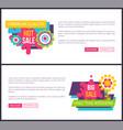 sale premium quality promo labels online posters vector image