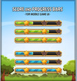 score and progress bars for game ui vector image vector image