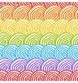 Seamless rainbow doodle background vector image vector image