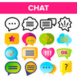 speech bubble icon set chat dialog vector image