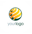 sphere round technology logo vector image vector image
