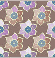 summer seamless pattern with spring flowers vector image vector image