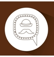 symbol hipster hat and retro mustache icon vector image vector image