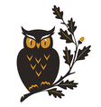 symbol owl oak details vector image