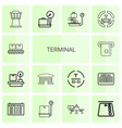 terminal icons vector image vector image