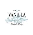 Vanilla logo original design estd 1978 culinary