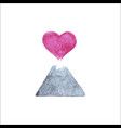 volcano heart vector image