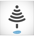 Funny Christmas tree icon based on wireless symbol vector image
