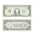 1 dollar banknote cartoon us currency two vector image vector image