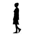 a silhouette of a girl walking through the city vector image vector image