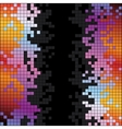 Abstract background with rainbow colorful pixels vector image