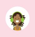 african girl face headphones portrait on pink vector image vector image