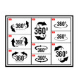angle 360 degrees view sign icon vector image vector image