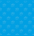 arabic man pattern seamless blue vector image vector image