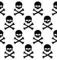 Black and white skulls background vector image