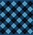 blue and black argyle harlequin seamless pattern vector image vector image