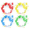 border template with colorful balloons vector image vector image