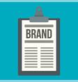 brand checklist icon flat style vector image