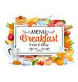 breakfast banners template menu vector image vector image