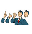 businessman set of gestures and emotions vector image vector image