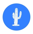 Cactus icon black Singe western icon from the vector image vector image