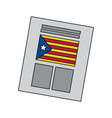 catalunya flag independence vote icon image vector image