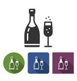 champagne icon in different variants with vector image vector image