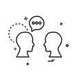 chat talking men icon design vector image