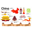 china travel guide template set chinese vector image vector image