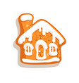 christmas gingerbread house traditional homemade vector image vector image