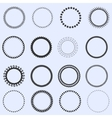 Circle frames set vector image