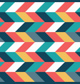 colorful parallelogram horizontal seamless pattern vector image