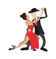 Couple dancing tango cartoon icon vector image vector image