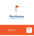 creative sports flag logo design flat color logo vector image vector image