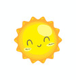 cute smile sun vector image vector image