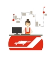Delivery Service Company Office With Manager vector image vector image