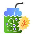 detox cocktail flat icon fresh beverage color vector image vector image
