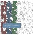 doodle random objects transparent pattern vector image vector image