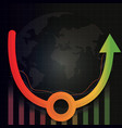 economic recovery u shape after covid-19 crisis vector image vector image