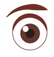 eye cartoon isolated vector image vector image