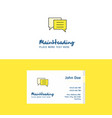 flat folder logo and visiting card template vector image vector image