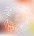 Frame on blured background vector image vector image