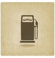 gasoline pump old background vector image vector image