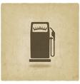 gasoline pump old background vector image