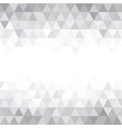 grey triangular mosaic abstract seamless pattern vector image vector image
