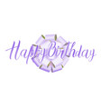 happy birthday beautiful greeting card hand drawn vector image