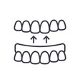 implanted teeth line icon sign vector image