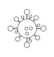 Isolated atom molecule design vector image vector image